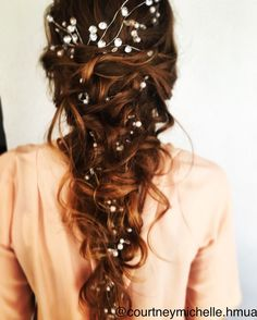 Gorgeous baby's breath infused messy braid!