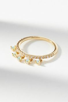 Slide View: 1: Dangling Opal Ring
