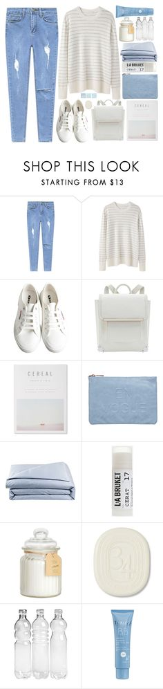 """Без названия #174"" by sinyukovayulya ❤ liked on Polyvore featuring 6397, Superga, Miss Selfridge, Frette, Toast, Diptyque and Thalgo"