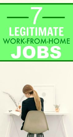 These 7 work from home jobs are SO GREAT! I'm so happy I've found this! I've been wanting to work from home for a LONG TIME and now I have some AMAZING options! Definitely pinning for later!