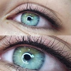 Permanent make-up of the eyelids (immediately after the procedure) Leading Master Natalya K Cost of Green Eyeliner, Eyeliner Looks, Makeup For Green Eyes, Semi Permanent Makeup, Permanent Makeup Eyebrows, Eyebrow Makeup, Eyeliner Tattoo, Makeup Tattoos, Permanent Makeup Training