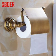 28.93$  Watch now - http://ali90c.shopchina.info/go.php?t=32671627468 - New arrival Antique Brass Toilet Paper Holder Roll Tissue Bracket with cover Wall Mounted  #aliexpressideas