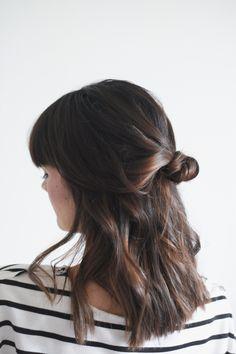 Hair Tutorial // Half Up Knot — Treasures & Travels
