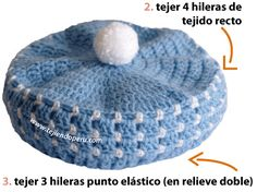 crocheted baby beret pattern