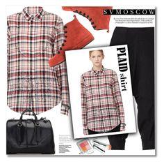 """PLAID shirt"" by svijetlana ❤ liked on Polyvore featuring Share Spirit, Ann Demeulemeester, If Six Was Nine and Jill Stuart"