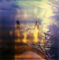 polaroids beach -
