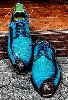 Premium Genuine Alligator Leather Lace-up Shoes