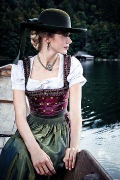 "Lena Hoschek Tradition A/W2014-15 ""Dirndl Clara"" und ""Dirndlbluse Lafnitz""…"