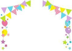 ガーランドと風船・星のフレーム Birthday Frames, Birthday Cards, Art Activities For Kids, Art For Kids, Birthday Background Design, Eid Photos, Diy Embroidery Designs, Gold Glitter Background, Birthday Wallpaper