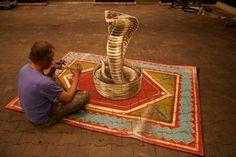 Bedrog voor het oog: 3-D street art  