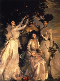 John Singer Sargent -The Acheson Sisters, 1902 Portrait of the Ladies Alexandra, Mary and Theodosia Acheson, granddaughters of Louise, Duchess of Devonshire by her first marriage to the Duke of Manchester Tableaux Vivants, Beaux Arts Paris, Sargent Art, Oeuvre D'art, American Artists, Painting & Drawing, Painting Videos, House Painting, Art History