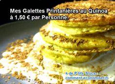 Mes galettes au quinoa sont une parfaite illustration de mes envies culinaires pour le retour du printemps : une recette légère en calorie et en prix.  Découvrez l'astuce ici : http://www.comment-economiser.fr/galettes-printanieres-quinoa.html?utm_content=bufferd89ea&utm_medium=social&utm_source=pinterest.com&utm_campaign=buffer