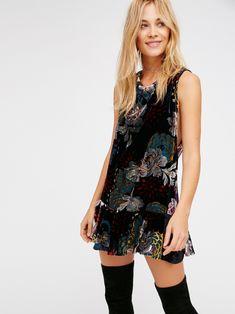Velvet Burnout Mini Dress at Free People Clothing Boutique