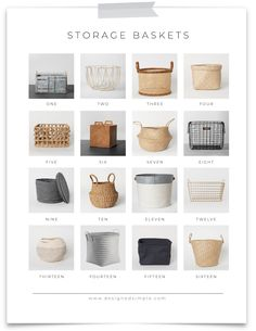 Decorative storage baskets help declutter and organize your home, while still looking stylish. Ikea Storage Baskets, Storage Bins, Storage Ideas, Wall Storage, Storage Solutions, Girls Bedroom Storage, Wardrobe Storage, Pax Wardrobe, Home Room Design