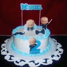 A Little Advice for New Parents Boss Birthday, Birthday Cake, Baby Girl Shower Themes, Baby Shower, Boss Baby, Baby Party, New Parents, Pastel, Gabriel