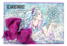 Wishes From The Snow Queen ~ Under a creative spell #decoartprojects #decoartmedia #mixedmedia