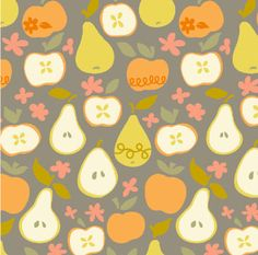 Clementine - In the Orchard in Taupe - 113.104.06.1 - 1/2 Yard