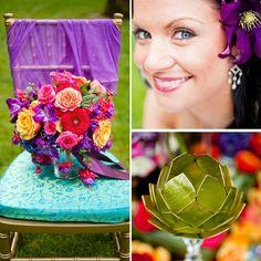 Wedding Inspiration: Colorful, Indian Wedding Decor