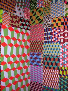 Barry McGee is the man! Barry McGee is the man! Op Art, Textile Patterns, Print Patterns, Barry Mcgee, Guache, Color Shapes, Geometric Art, Geometric Patterns, Pattern Mixing