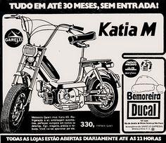 Anúncio motociclo Garelli - Katia M - 1975