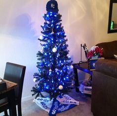 Our KC Royals Christmas Tree