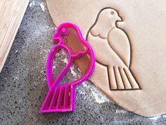 3D Printed Wood Pigeon Cookie Cutter