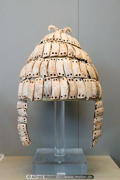 Mycenaean Boar Tusk Helmet - Bronze-age Greece - this style was worn by Odysseus