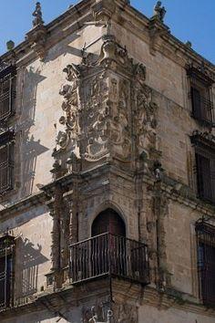 Balcony in Caceres,  Extremadura, Spain