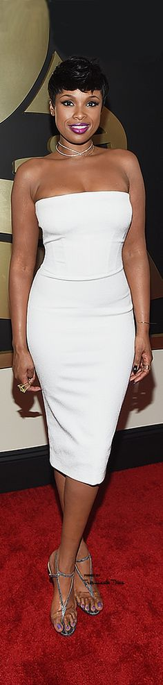 #Jennifer #Hudson at the 57th Annual #Grammy Awards 2015 in Tom Ford ♔THD♔