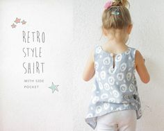 Retro SHIRT pattern  pdf toddler sewing tutorial von AmelieClothing