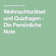 Weihnachtsrätsel und Quizfragen - Die Persönliche Note