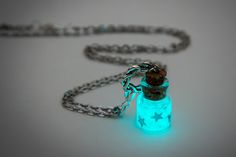 [picture only] glow in the dark jar necklace