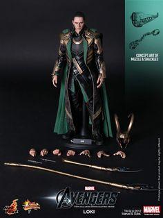 1/6 Hot Toys - MMS176 - The Avengers: 1/6th Scale Loki