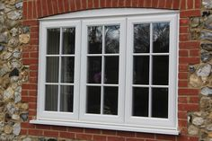 This property in Wokingham, Berkshire, originally had single glazed timber windows which we replaced with white wood effect uPVC windows. Aluminium Windows And Doors, Upvc Windows, Wooden Windows, Sliding Windows, Sash Windows, Georgian Windows, French Windows, Round Windows, Bungalow Exterior