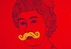 """""""Cabeça da Rainha Elizabeth II"""", de Damien Weighil, obra que integra o acervo da Patrícia Cornish Escritório de Arte durante a PARTE (Foto: Carol Alves / Divulgação)"""