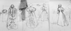 Moika Palace - sharpe-on-asgard: Concept art for Crimson Peak. Theatre Costumes, Movie Costumes, Character Costumes, Sketchbook Inspiration, Work Inspiration, Costume Design Sketch, Crimson Peak, Art Folder, Dress Sketches