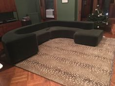 Custom BUILT BY BEATRICE Puzzle Couch Replica in Mohair