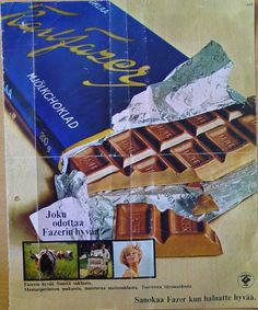 Remember this from 1960?the best Chokolate in Finland, and with nuts still better.
