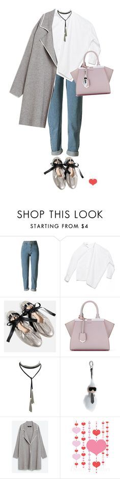 """""""#shirt  #metallic #coat"""" by faye-valentine ❤ liked on Polyvore featuring Piel Leather, Fendi and Gola"""