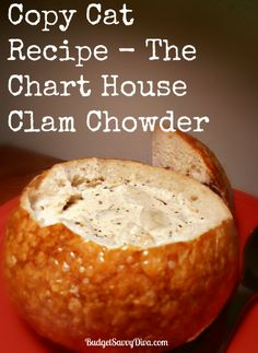 Copy Cat Recipe - The Chart House Calm Chowder     Not Hard To Make - Perfect Soup For Anytime Clam Chowder Recipes, Canned Clam Recipes, Seafood Recipes, Homemade Clam Chowder, Soup Recipes, Chart House, Soup And Sandwich, Salad Sandwich, Food Charts