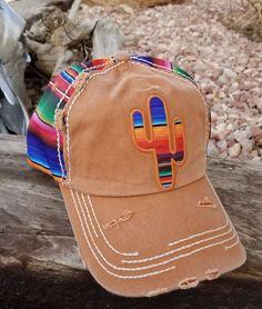 SERAPE CACTUS  Cap hat Cowgirl Western Gypsy Southwest Tan Distressed #Unbranded #BaseballCap
