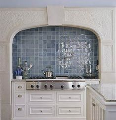 french blue tiles