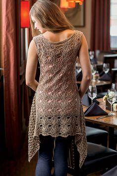 """Open Eye Tunic By Deborah Helmke - Purchased Crochet Pattern In Publication """"Interweave Knits, Summer 2013, Digital Edition"""" - See http://www.interweavestore.com/interweave-knits-summer-2013-digital-edition To Order Publication - (ravelry)"""