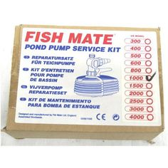 Fish Mate Pump Service Kit for 1000 Pump by Fish Mate. $42.05. Ref model 249. Genuine fish mate parts. Impeller included. Genuine Fish Mate Pond Pump Service Kits for annual maintanence. Save 21% Off!