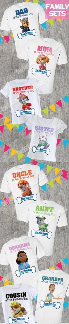 Paw Patrol Family Birthday Shirts