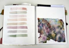 How to keep a Sketchbook, Artist Study with thanks to esther yaloz… Sketchbook Layout, Textiles Sketchbook, Sketchbook Pages, Fashion Sketchbook, Sketchbook Inspiration, Sketchbook Ideas, Art Portfolio, Art Techniques, Textile Design