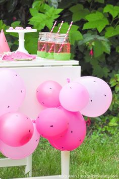 Watermelon themed DIY birthday party by Kara's Party Ideas | Kara Allen | KarasPartyIdeas.com #MichaelsMakers You're one in a melon!_-44