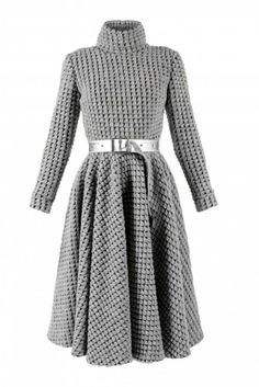 Concepto shows the chicest way to wear wool this season with this high-class, snug dress. The Romeo Regan is an impressive piece crafted from a modern blend of wool with a chunky pattern. Tailored in a classic fit-and-flare silhouette, it will keep you both warm and stylish. Lend it a seductive kick with knee-high boots.