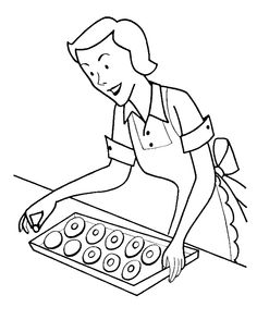 mom make cookies more coloring pages cookie coloring pages kidsdrawing free coloring pages