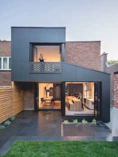 Black Box House is the latest in a series of tiny additions impacting existing architecture in a big way. The Black Box House addition is . Residential Architecture, Contemporary Architecture, Interior Architecture, Amazing Architecture, Black Architecture, Contemporary Stairs, Contemporary Building, Contemporary Apartment, Contemporary Wallpaper